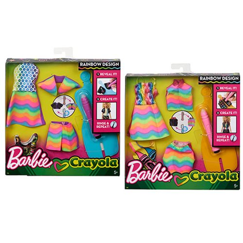 Barbie Crayola Fashion Pack Case