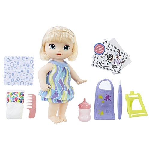 Baby Alive Finger Paint Baby Blonde Hair Doll