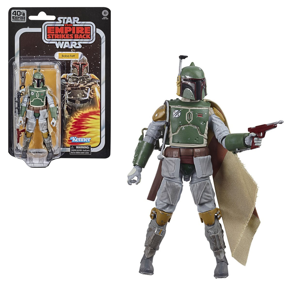 "Star Wars Black Series ~ 6/"" BOBA FETT ACTION FIGURE ~ Empire Strikes Back 40th"