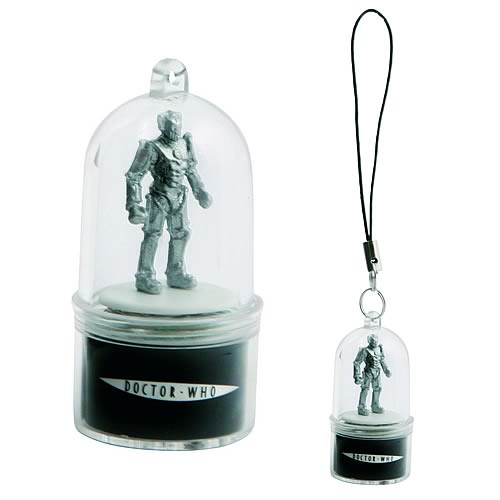 Doctor Who Cyberman Rotating Cell Phone Charm