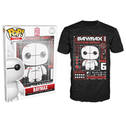Big Hero 6 Baymax Tech Black Pop! T-Shirt