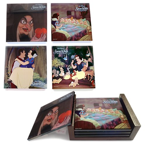 Snow White StarFire Prints Glass Coaster Set