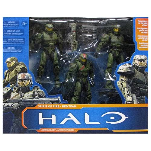 Halo Wars Spirit of Fire Red Team Action Figure Box Set