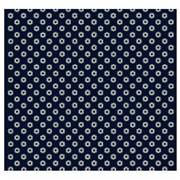 Star Wars Imperial Symbol Pattern Navy Italian Silk Pocket Square