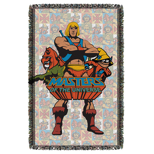 Masters of the Universe Heroes Woven Tapestry Throw Blanket