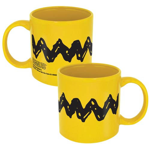 Peanuts Charlie Brown Zig Zag 20 oz. Ceramic Mug