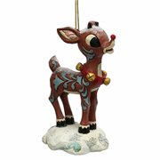 Rudolph the Red-Nosed Reindeer Snow Covered Rudolph Ornament by Jim Shore