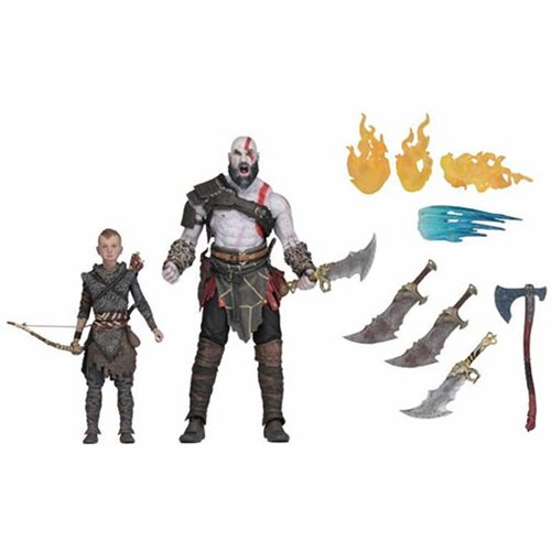 God of War 2018 Ultimate Kratos and Atreus 7-Inch Scale Action Figure 2-Pack