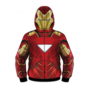 Iron Man Sublimated Costume Fleece Zip-Up Hoodie