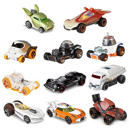 Star Wars Hot Wheels Character Cars Vehicles Wave 3 Case