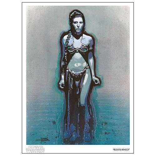 Star Wars Princess Leia Restrained Paper Giclee Print