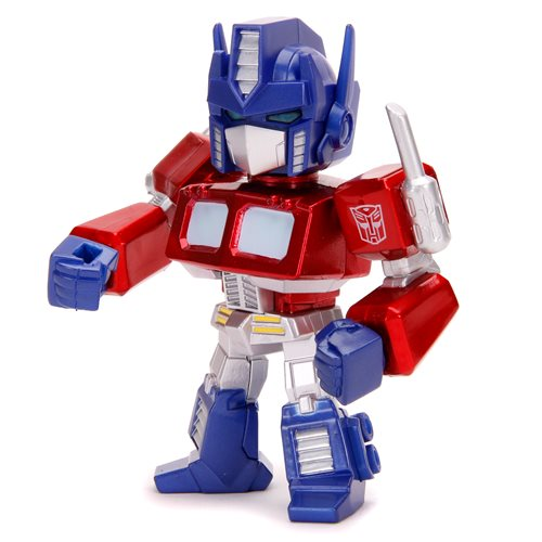 Transformers G1 Optimus Prime Deluxe 4-Inch MetalFigs Figure with Light