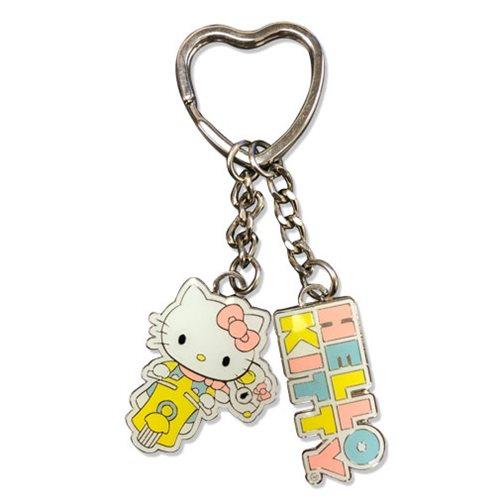 1099421f1 Hello Kitty Adventure Metal Multi-Charm Key Chain - Entertainment Earth
