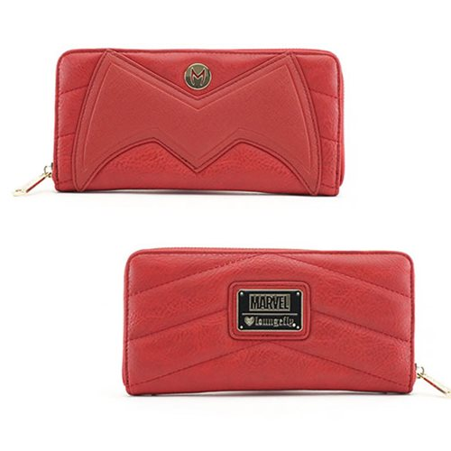 Scarlet Witch Faux Leather Zip-Around Wallet