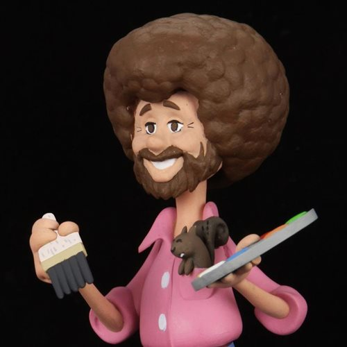 Bob Ross with Peapod Toony Classics Action Figure