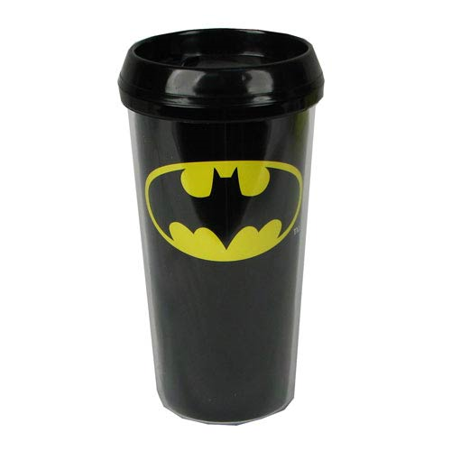 Batman Logo Black Travel Mug
