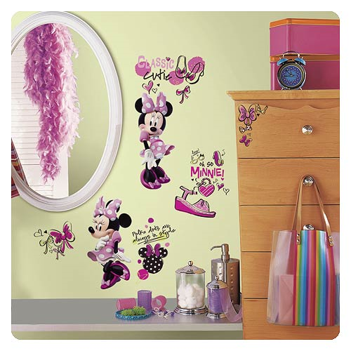 Minnie Mouse Fashionista Peel and Stick Wall Decals