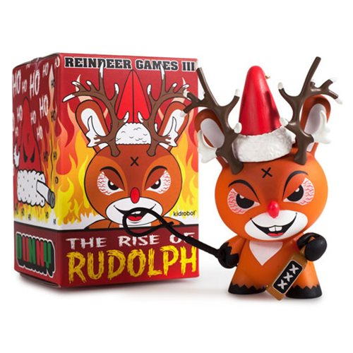 Kidrobot Frank Kozik Reindeer Games III: Rise of Rudolph Holiday Dunny 3-Inch Vinyl Figure