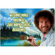 Bob Ross Happy Little Accidents Tin Sign
