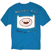 Adventure Time Finn That's So Math Blue T-Shirt