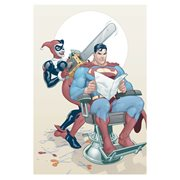 DC Comics Harley and Superman Chainsaw Canvas Print