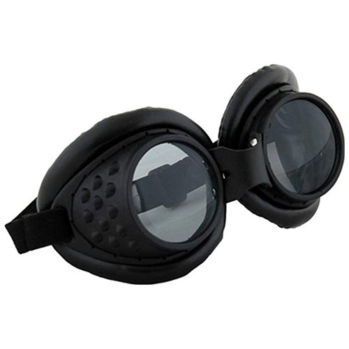 Steampunk Radioactive Black Aviator Goggles