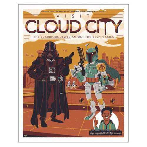 Star Wars Visit Cloud City by Ian Glaubinger Lithograph Art Print