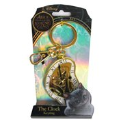Alice in Wonderland Clock Pewter Key Chain