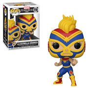 Marvel Luchadores La Estrella Cosmica Captain Marvel Pop! Vinyl Figure