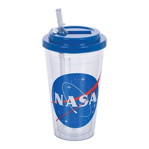 NASA 16 oz. Flip-Straw Acrylic Cup