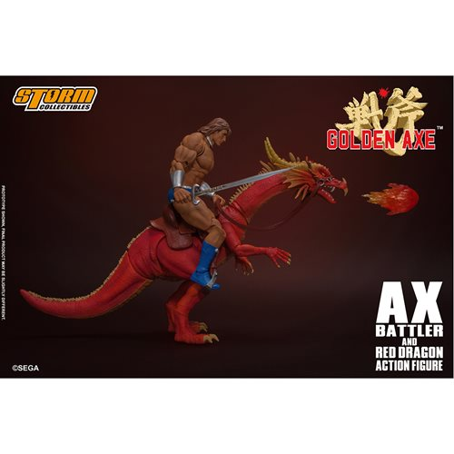 Golden Axe Ax Battler and Red Dragon 1:12 Scale Action Figure
