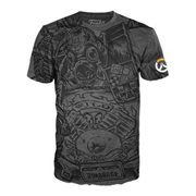 Overwatch Roadhog Jumbo Black Pop! T-Shirt