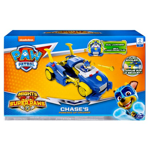 PAW Patrol Mighty Pups Super PAWs Chase's Powered Up Cruiser Transforming Vehicle