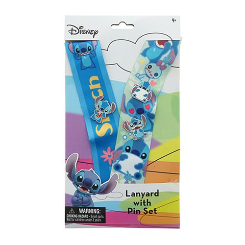 Stitch Deluxe Lanyard with Enamel Pins Set - D23 2019 Convention Exclusive