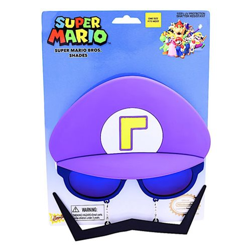 Super Mario Bros. Purple Waluigi Sun-Staches
