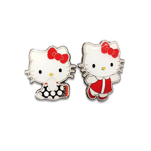 ee360f15d Hello Kitty Retro Hello Kitty Enamel Pin Set - Entertainment Earth