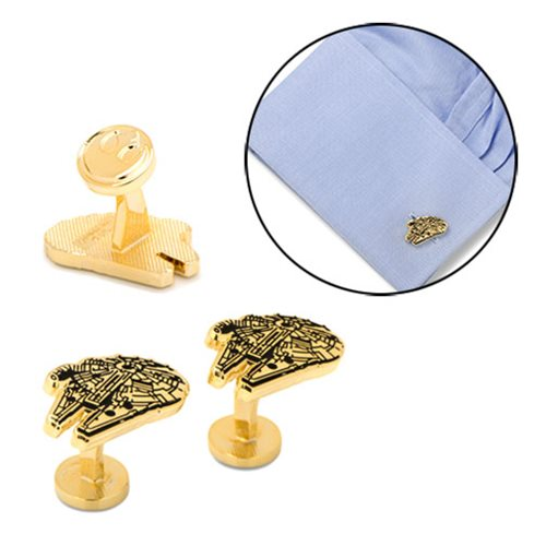 Star Wars Gold Plated Millennium Falcon Cufflinks