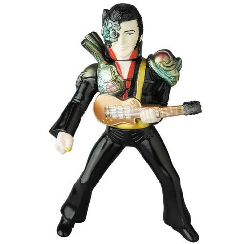 Mecha Elvis Black Costume Version Sofubi Vinyl Figure
