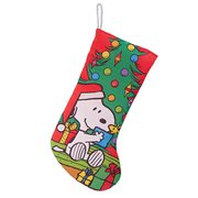 Peanuts Snoopy with Tree 19-Inch Printed Stocking