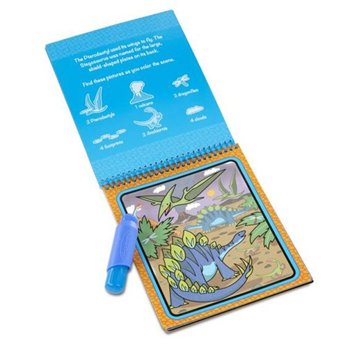 Melissa & Doug Water Wow! Dinosaurs Water-Reveal Pad On the Go Travel Activity
