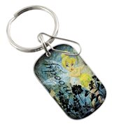 Disney Tinker Bell Wash Tag Enamel Key Chain