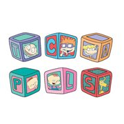Rugrats Alphabet Blocks Random Blind-Box Enamel Pin 12-Piece Display Tray