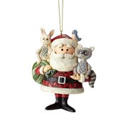 Rudolph the Red-Nosed Reindeer Santa with Woodland Animals Ornament by Jim Shore