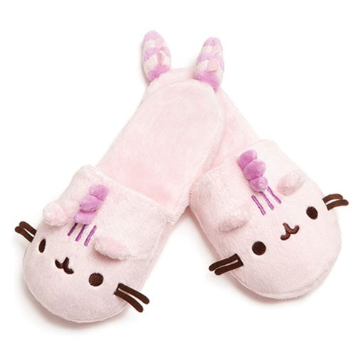 Pusheen the Cat Pusheenosaurus Cotton Candy Pink Slippers