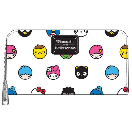 Hello Sanrio Circle Print Zip-Around Wallet