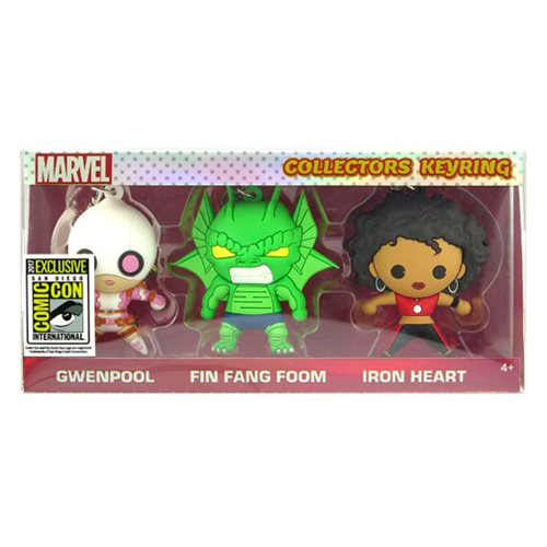Marvel 3D Figural Key Chain 3-Pack - San Diego Comic-Con 2017 Exclusive