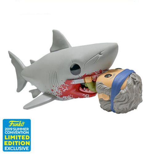 Jaws Eating Quint Deluxe Pop! Vinyl Figure - 2019 Convention Exclusive, Not Mint