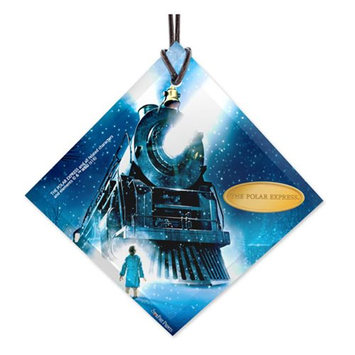 The Polar Express Train StarFire Prints Hanging Glass Ornament