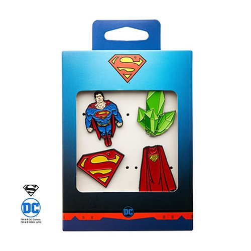Superman 4-Pack Enamel Pin Set