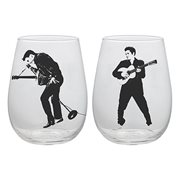 Elvis Presley 18 oz. Contour Glass Tumblers 2-Pack